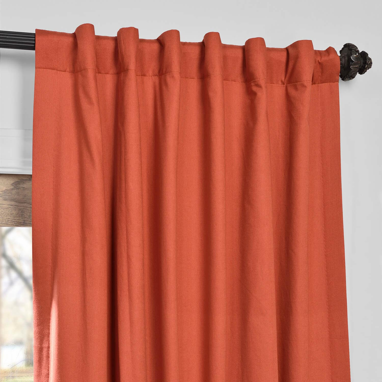 Orange And Red Curtains Red Orange Blackout Curtains Oh Decor Curtain