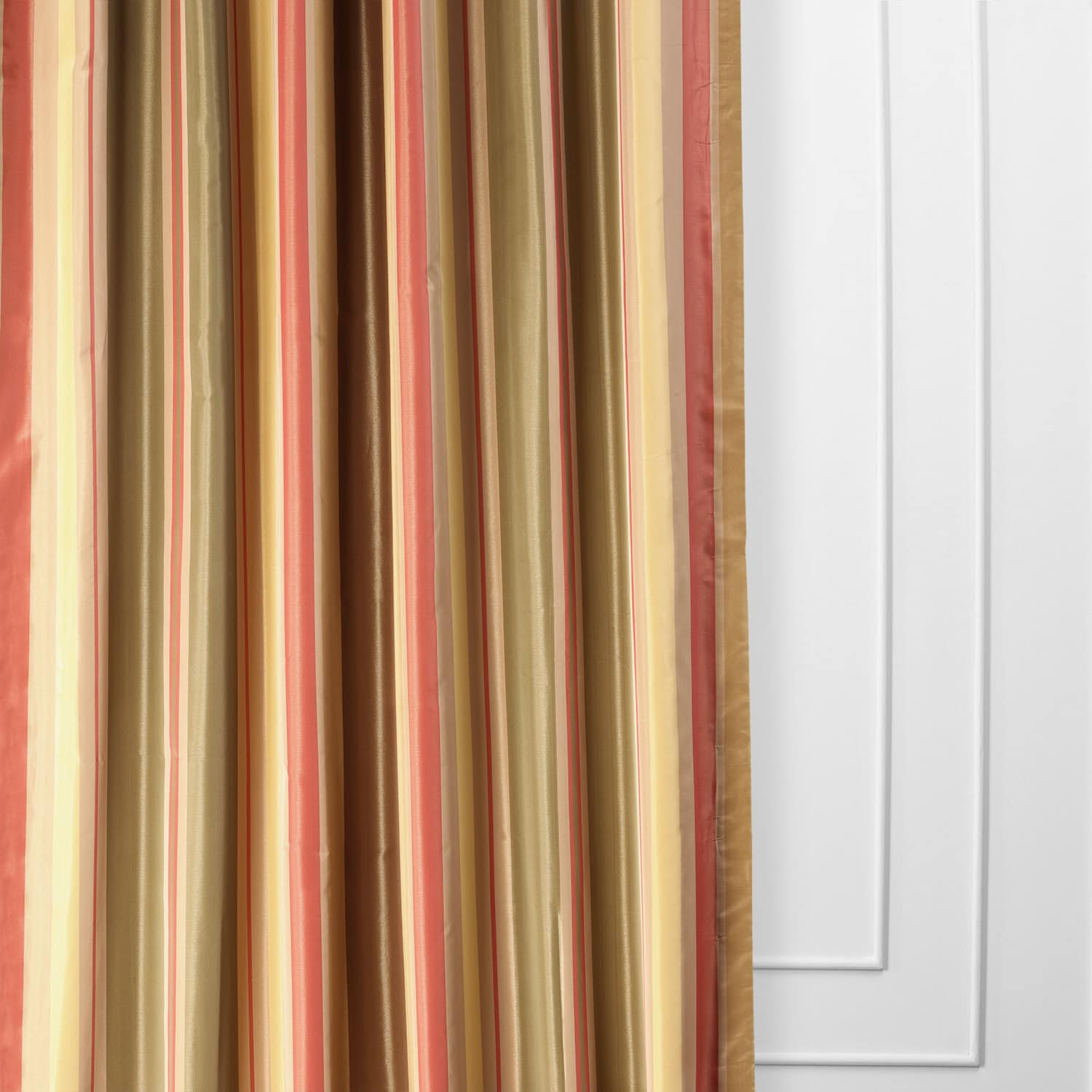 Curtain Deals Mirage Faux Silk Taffeta Stripe Curtain Deals Read More