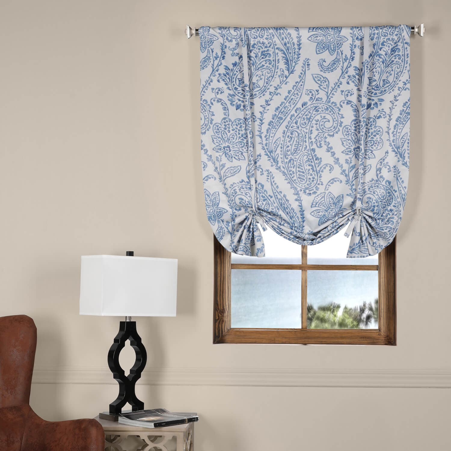 China Blue Curtains Blue Tie Up Curtains Jerusalem House