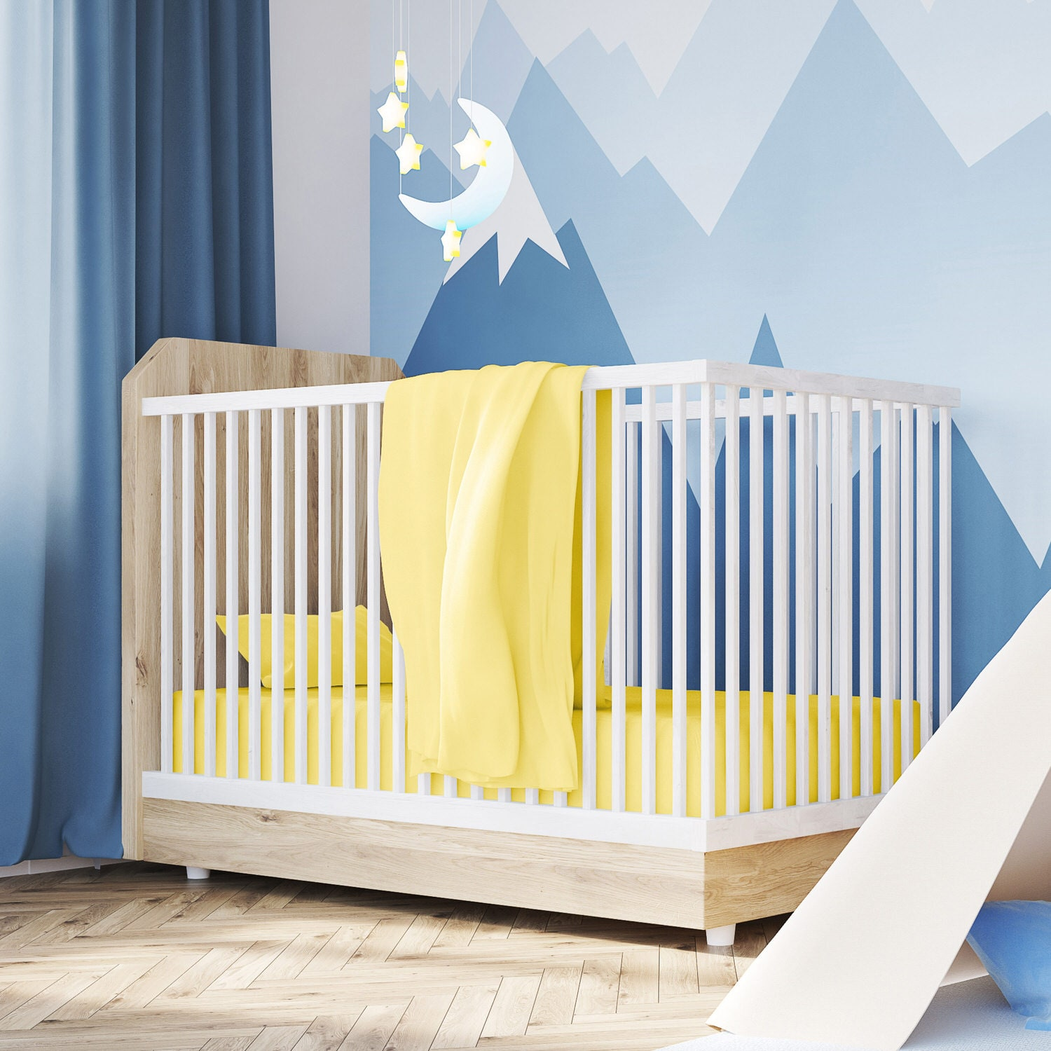 Baby Cradle Sheets Cotton Jersey Yellow Crib Sheets