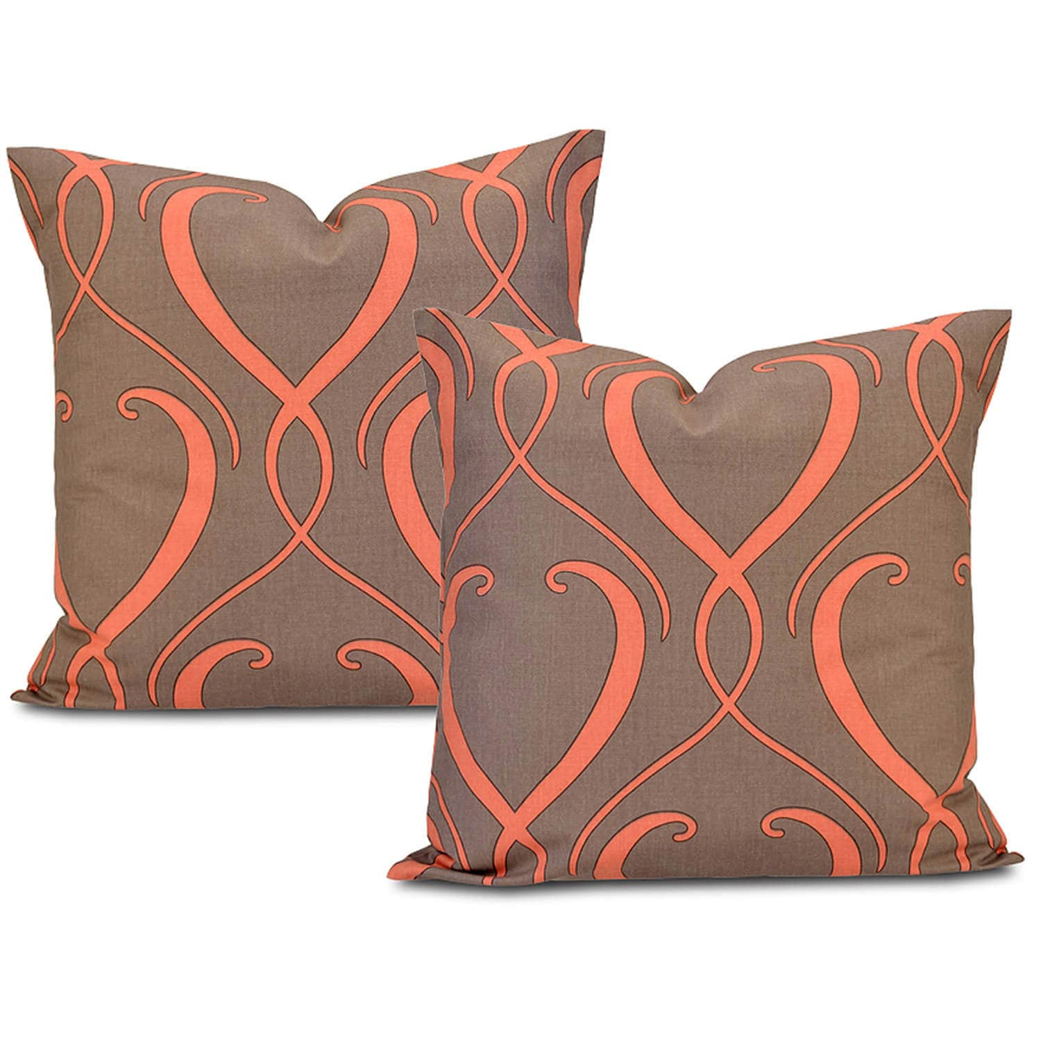 Buy Draperies Panama Printed Cotton Cushion Cover Pair