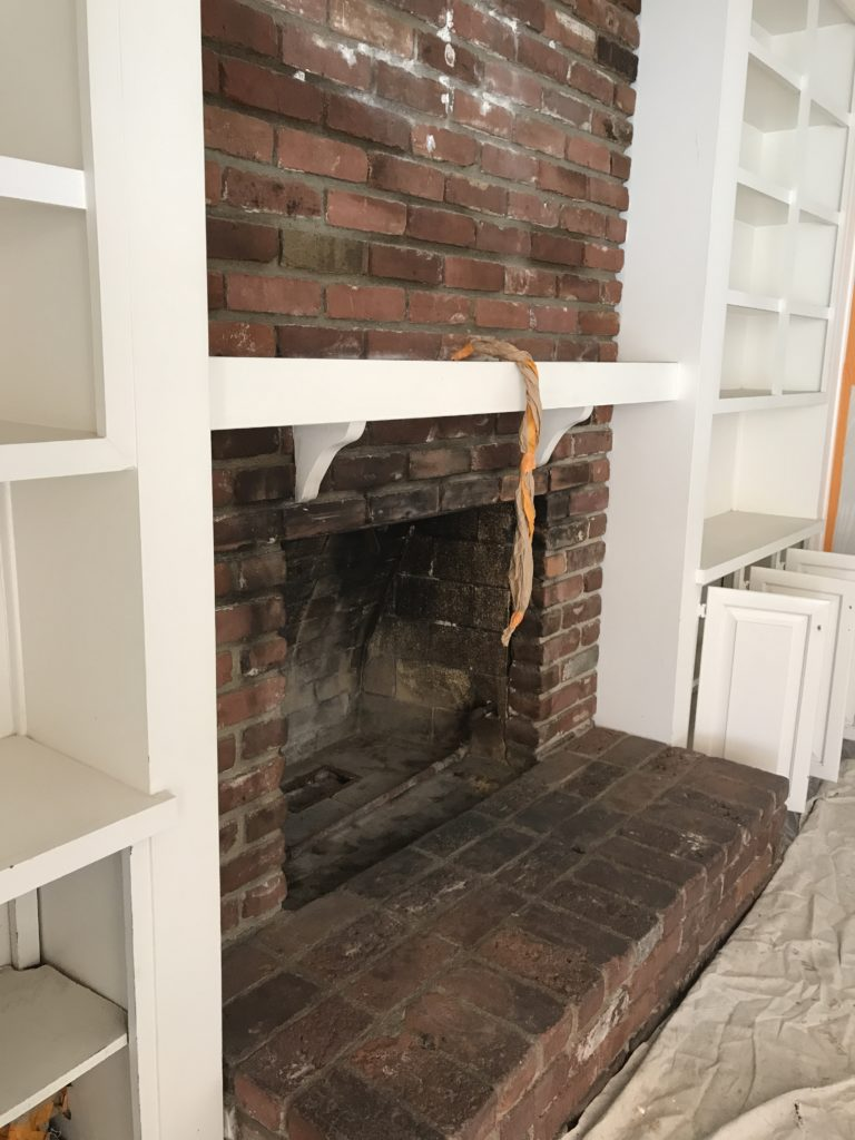 Heat Resistant Paint Fireplace A Modern Fireplace Makeover