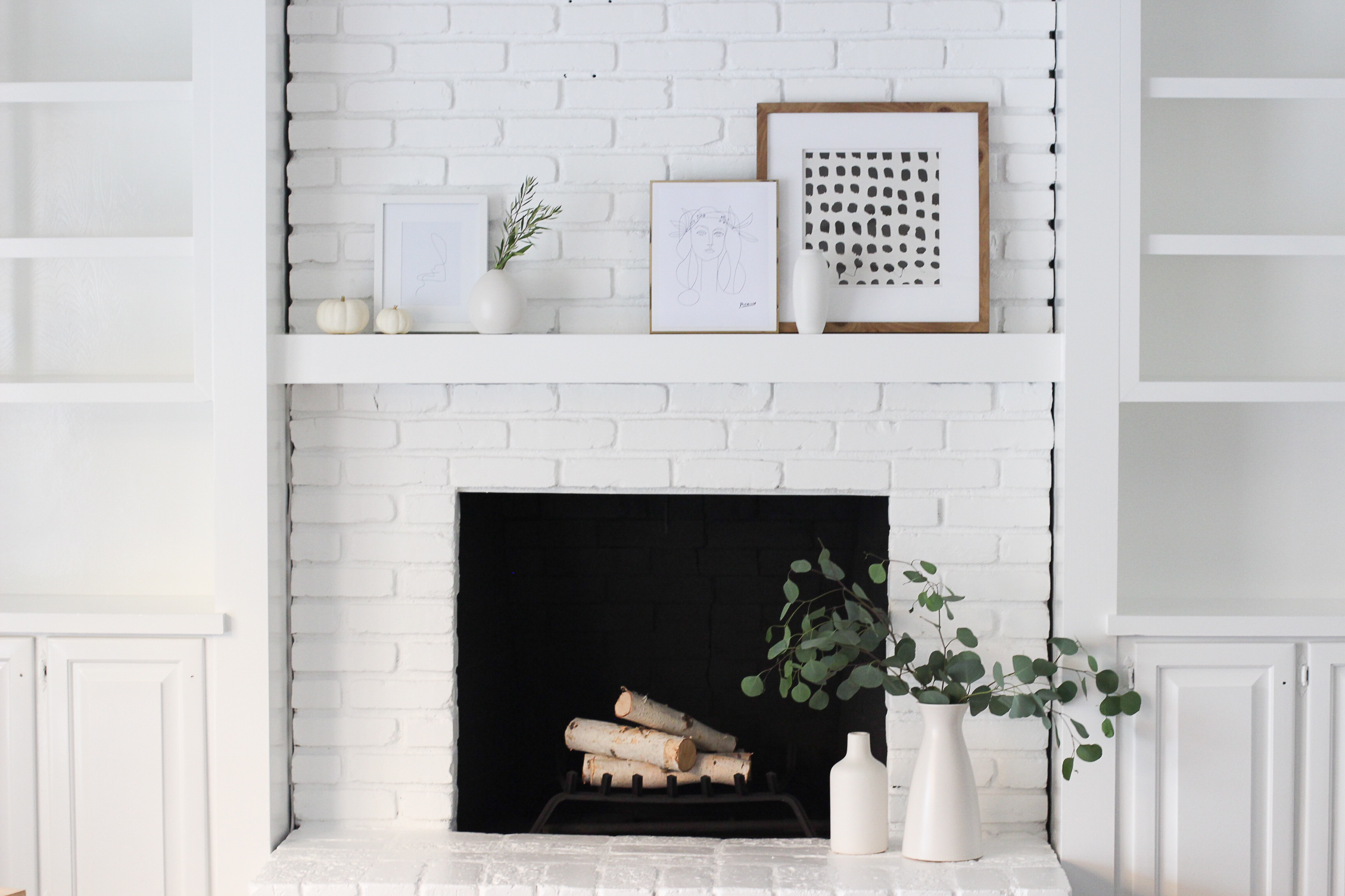Modern Fireplace Images A Modern Fireplace Makeover Halfway Wholeistic
