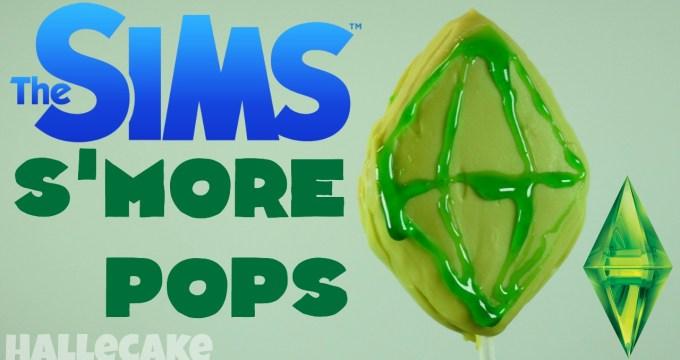 Make a Sims Plumbob Dessert S'More