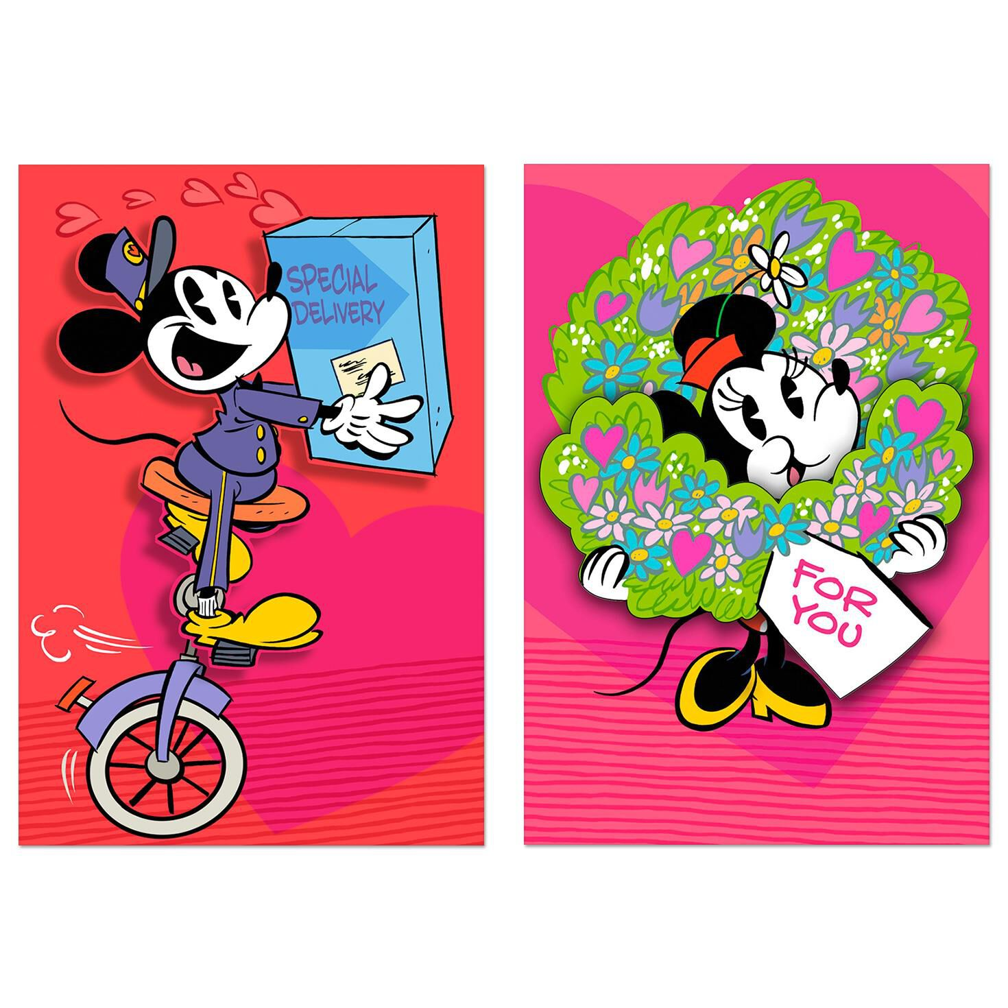 Disney Mickey Disney Mickey And Minnie Valentine S Day Cards Pack Of 6