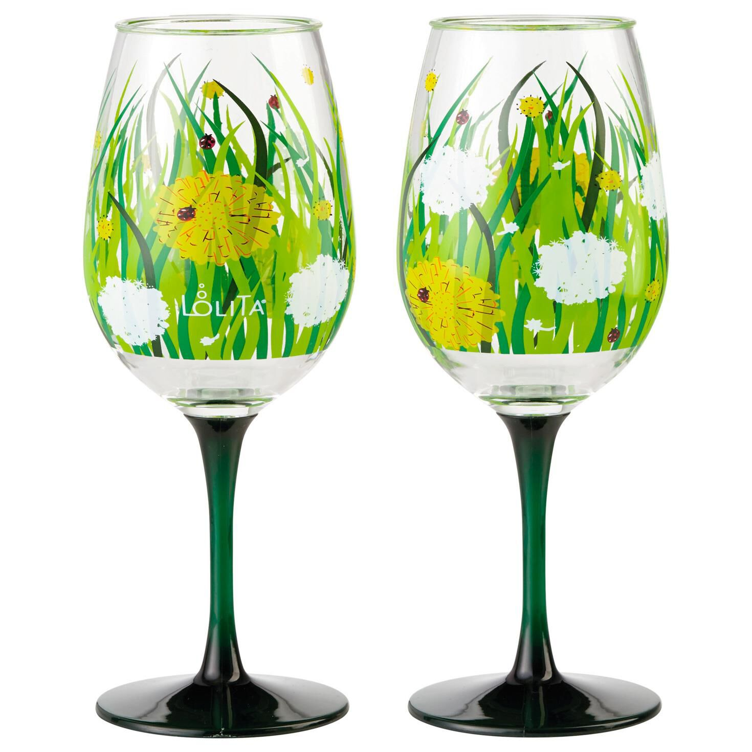Wine Glasses Lolita Dandelion Acrylic Wine Glasses Set Of 2