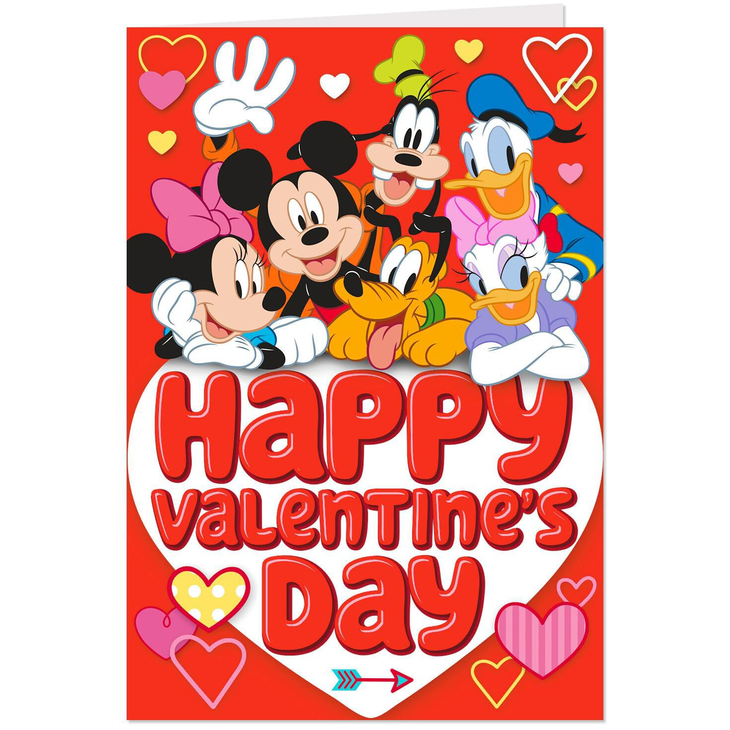 Disney Mickey Disney Mickey Mouse And Friends Valentine S Day Cards Pack Of 10