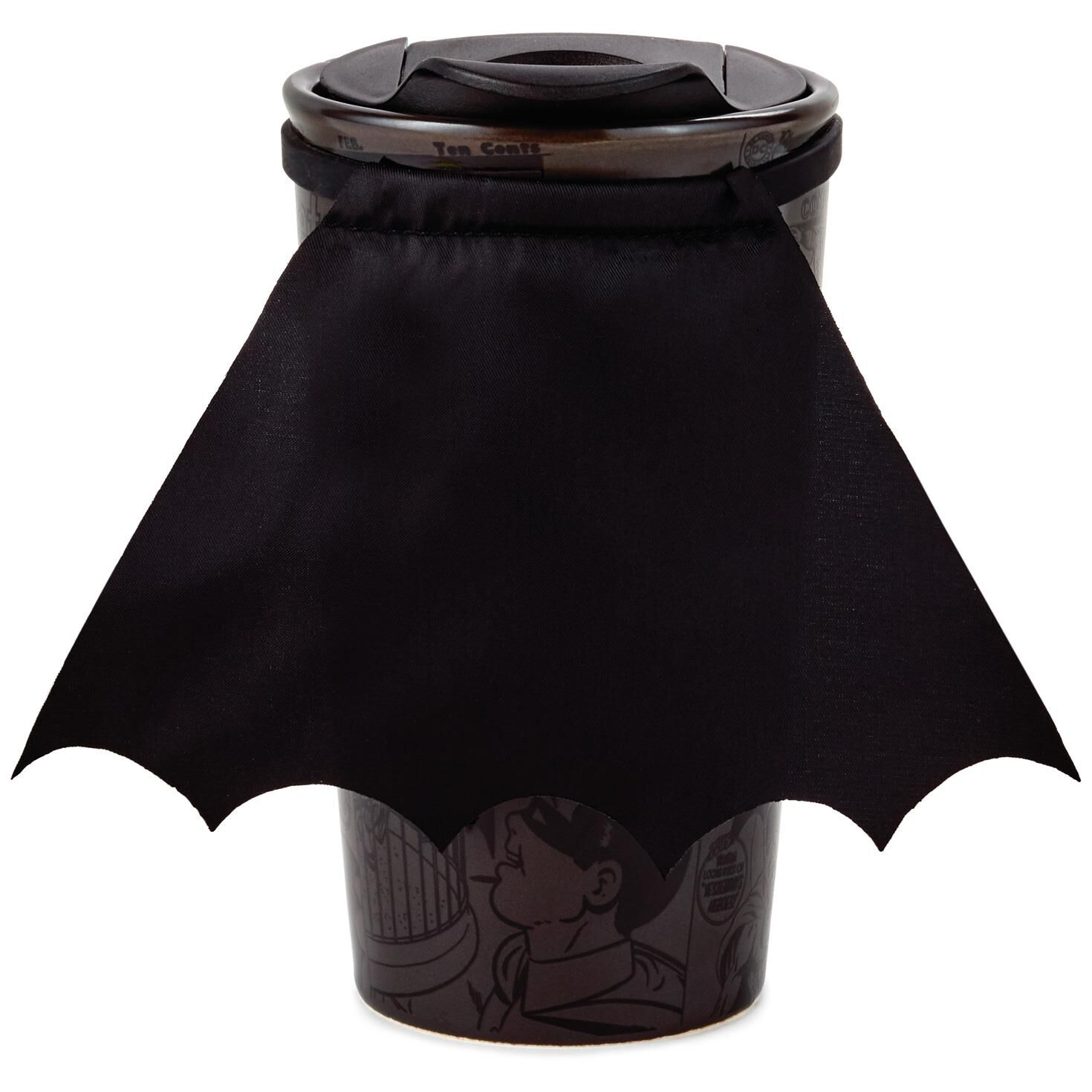 Cape Schwarz Batman Travel Mug With Cape 10 Oz