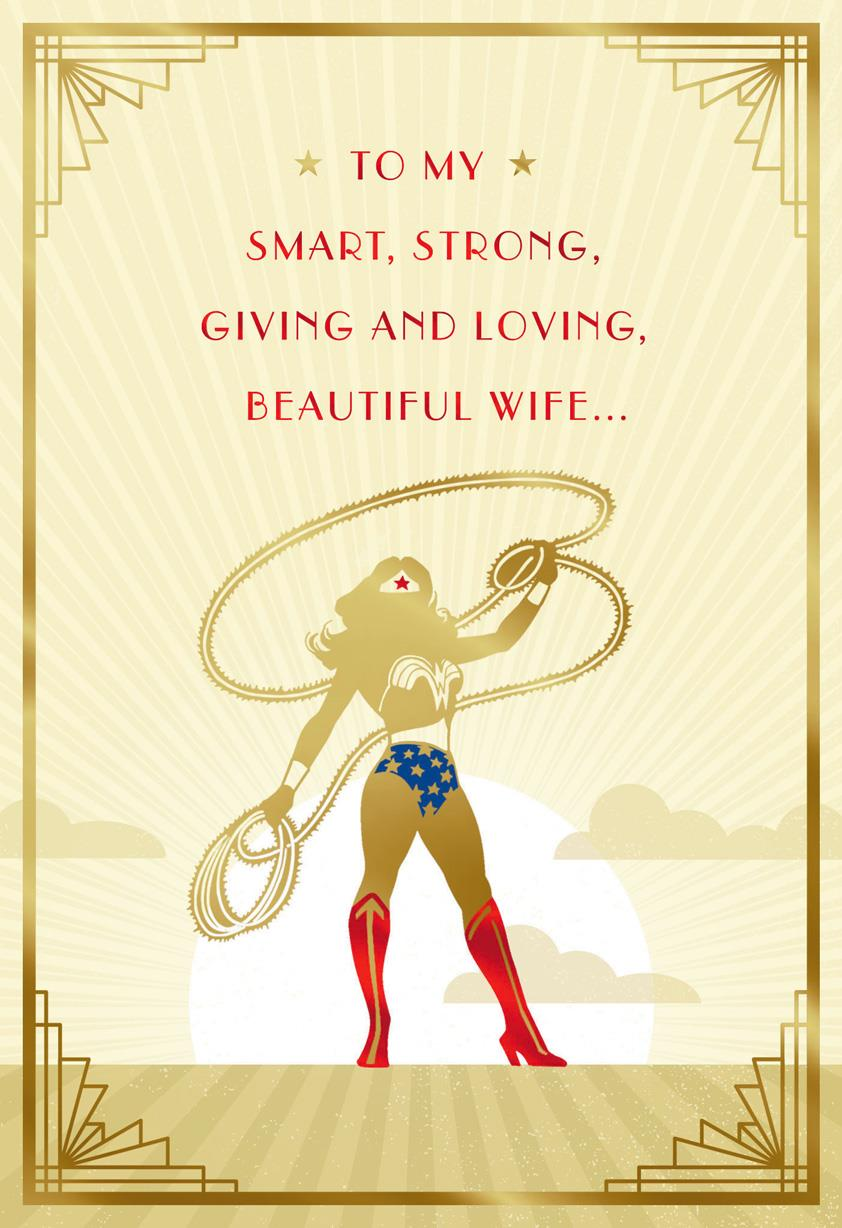 Birthday Card For Husband Dc Comics™ Wonder Woman™ You Save My World Birthday Card