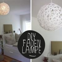 DIY// Bast-Lampe perfekt rund (Schnur-, Faden-Lampe)