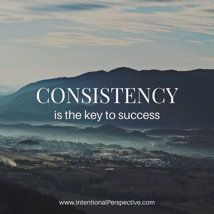 Quotes About Leadership  Consistency is the key to success