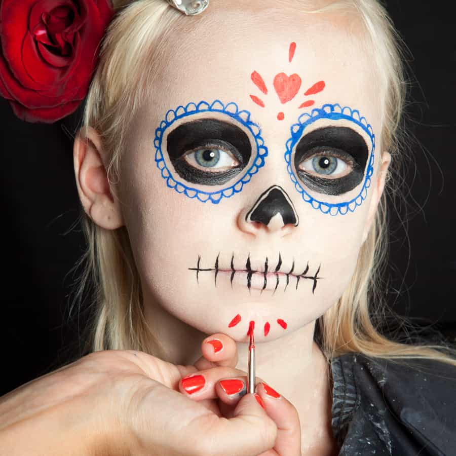Halloween Make Up Anleitung Halloween Kinder Schminken Día De Los Muertos Make Up Halloween De