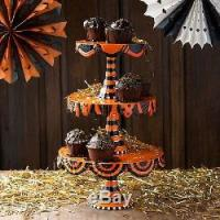Glitterville Halloween Cake Plate Stand 3 Tier Stacking ...