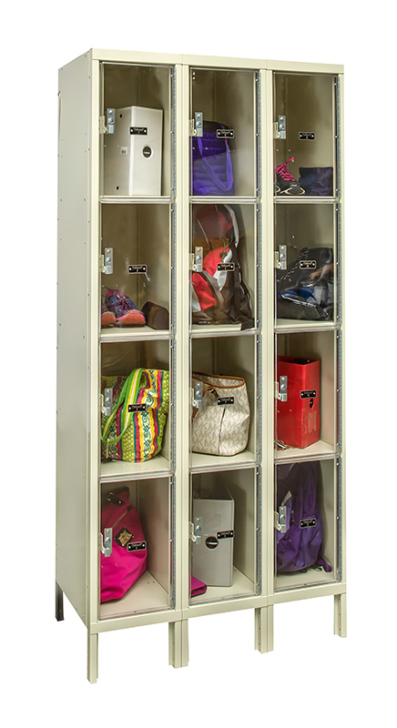 Wardrobe Assembly Windowed Lockers By Hallowell - Safety View Lockers