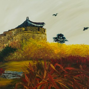 Korean Castle in Autumn