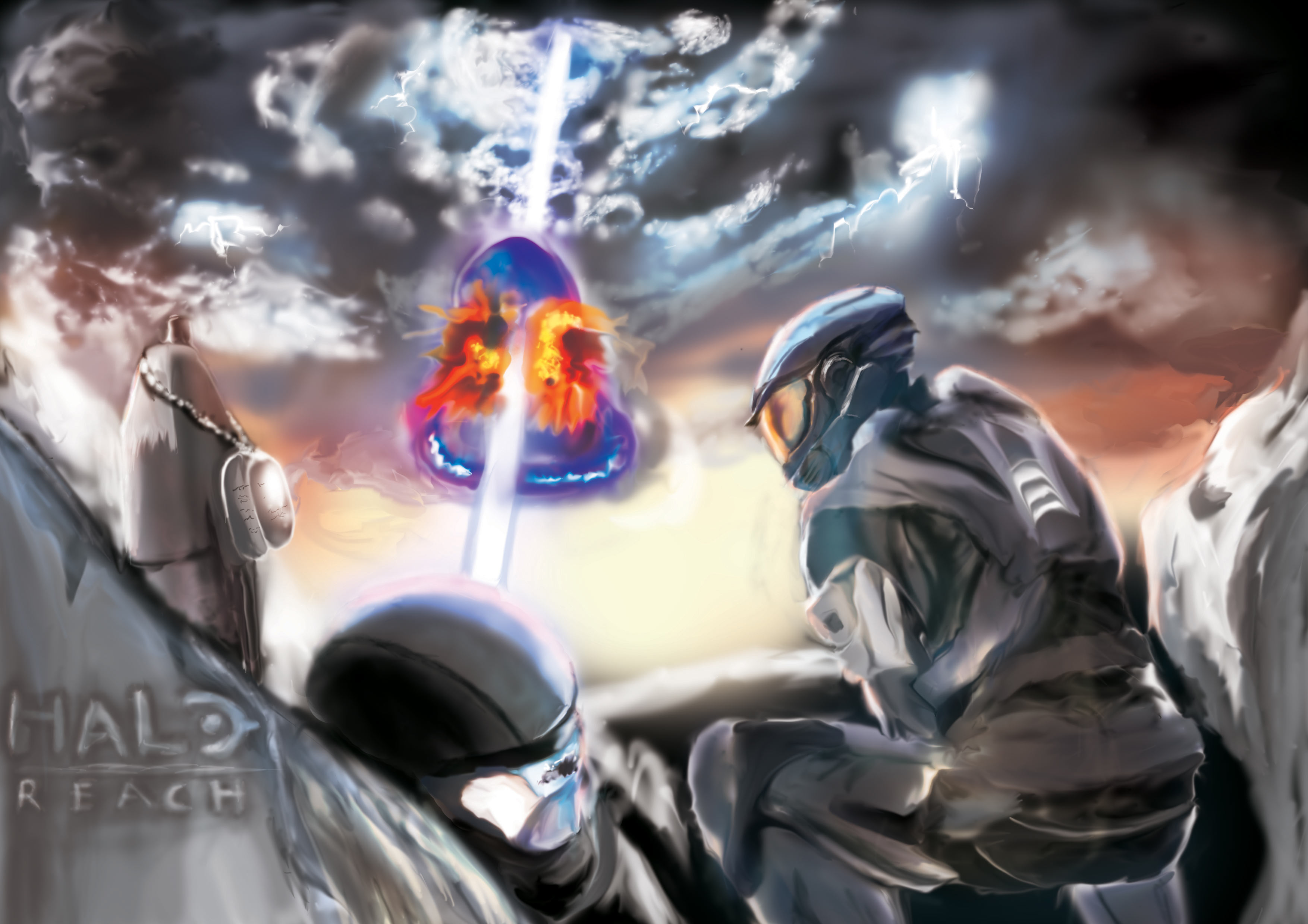 Halo Wallpaper Fall Of Reach Assaultgodzilla Collects Japanese Halo Fan Art Part 4