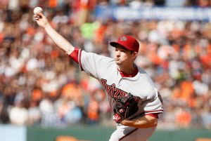 Allen Webster delivers a pitch during the first inning of a game against the San Francisco Giants at AT&T Park on June 13, 2015 (Exra Shaw/Getty Images)