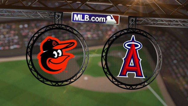 Orioles at Angels