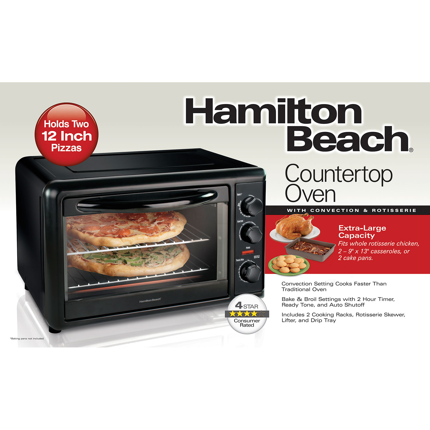 Countertop Rotisserie Ovens Hamilton Beach Countertop Oven With Convection And