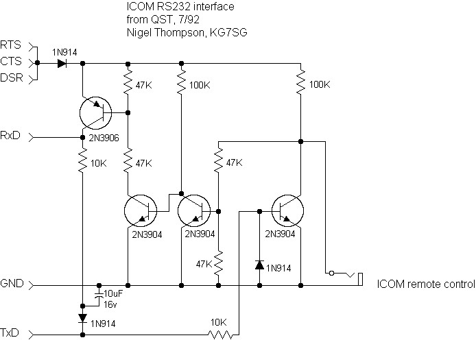 icom opc478 interface cable and schematic