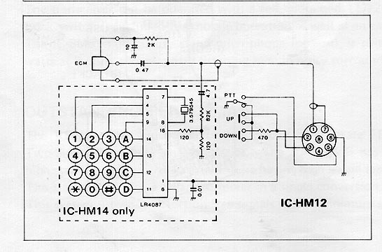 icom radio wiring diagram