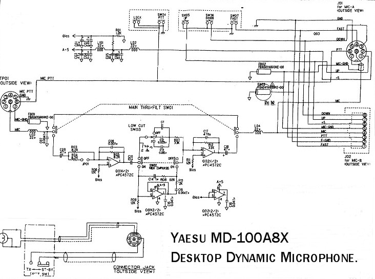 yaesu mic wiring wiring diagram schematic