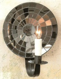 Colonial Cut Mirrored Tin Wall Sconce & Sconces ...