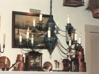 Reproduction Colonial Tin Chandeliers & Chandelier ...
