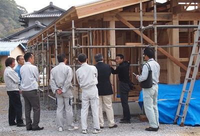"""鬼北の新築構造視察中の画像""""new-kihoku3-tour2"""""""
