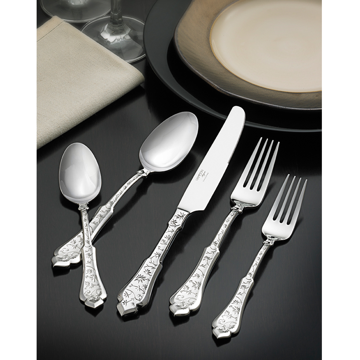 Rustic Flatware Patterns Embroidery 18 10 45 Piece Set Hamptonforge