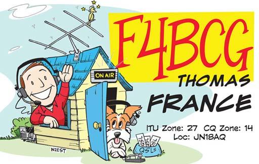 F4BCG ham radio cartoon QSL by N2EST