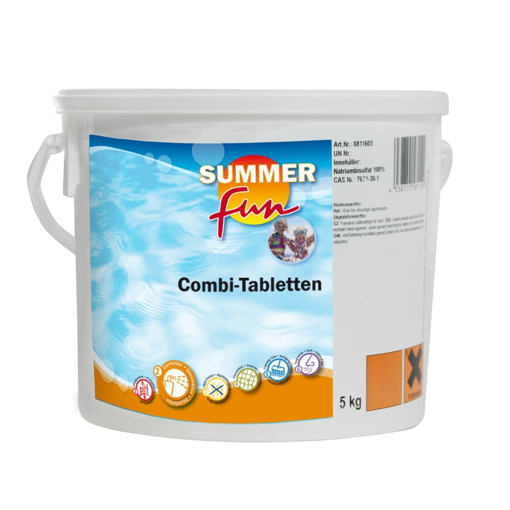 Chlortabletten Pool Inhalt Summer Fun Combi Tablette Algen Flock Chlor 5 Kg