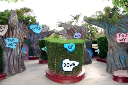 L'entrée du labyrinthe d'Alice