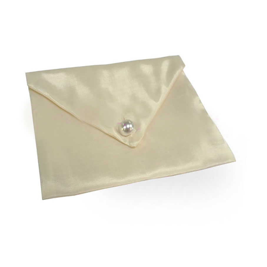 Wholesale Jewelry Packaging Ivory Silk Envelope For Jewellery Packaging Invitation Cards