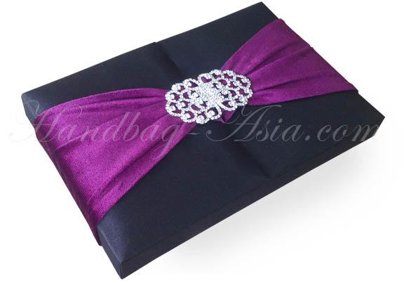 High End Wedding Box  Silk Boxes For Luxury Wedding Invitations