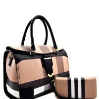 Olivia 2-N-1 Plaid Fashion HandbagSet — Handbags For Divas