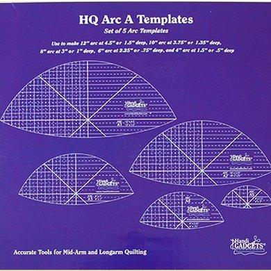 HQ Arc A \u2013 4\u2033 \u2013 12\u2033 5 Ruler Set Handcrafters House