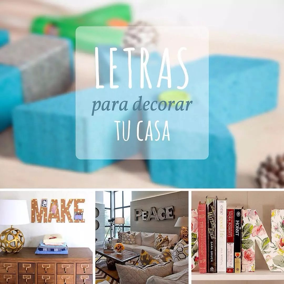 Diy Letras Decorativas Manualidades Fáciles Y Originales 43 Ideas Diy Handfie
