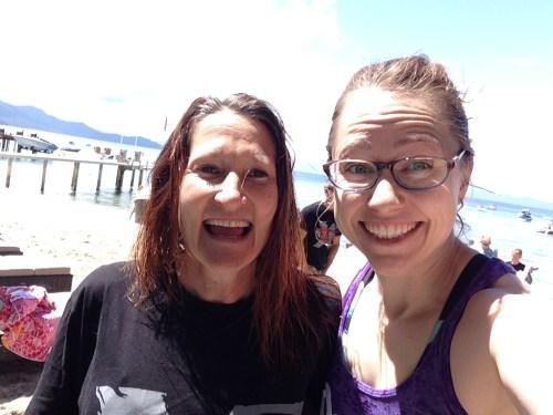 Suzi and me post-beach workout