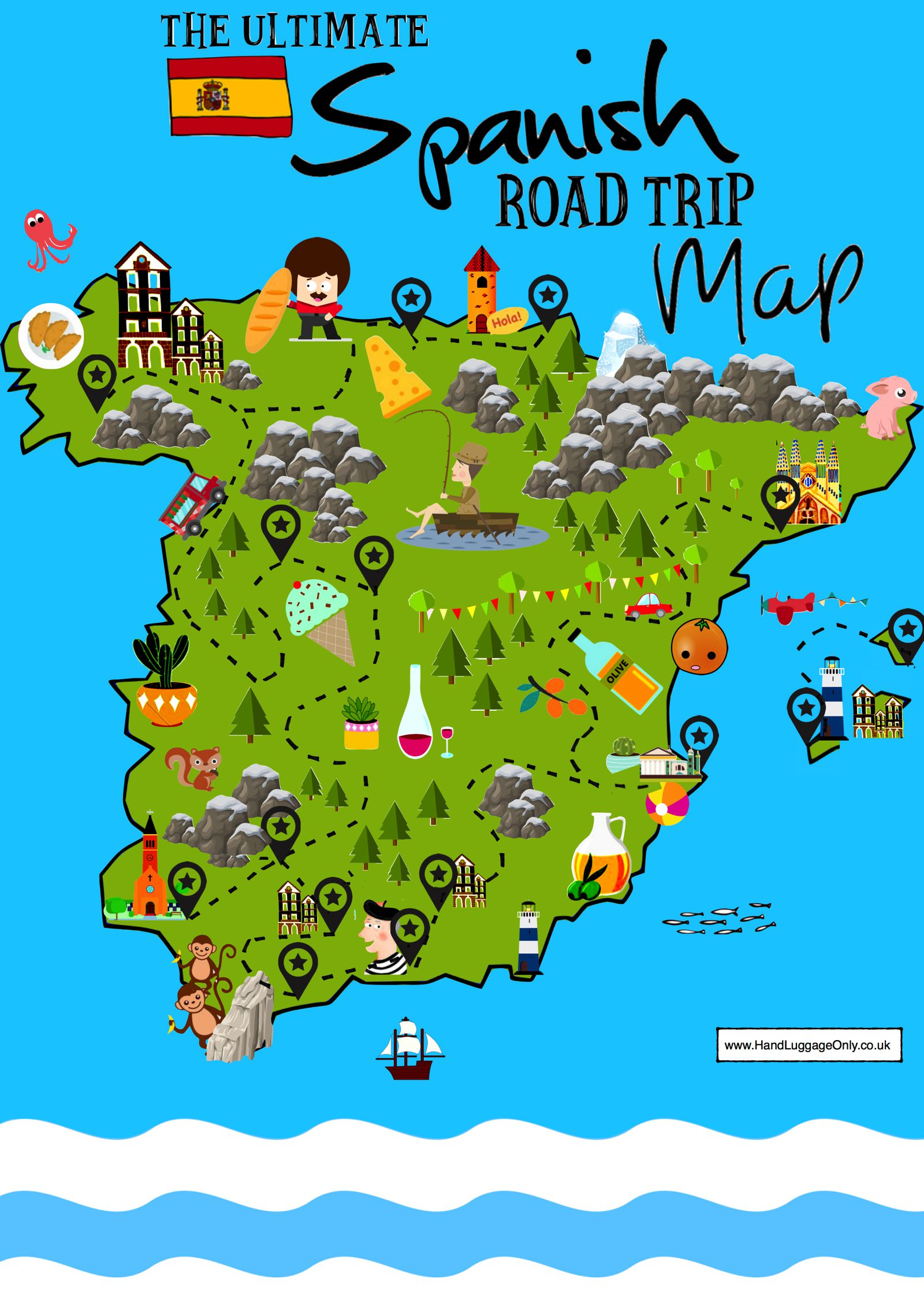 Travel Blog With Map 15 Beautiful Places To Visit In Spain Interactive Map
