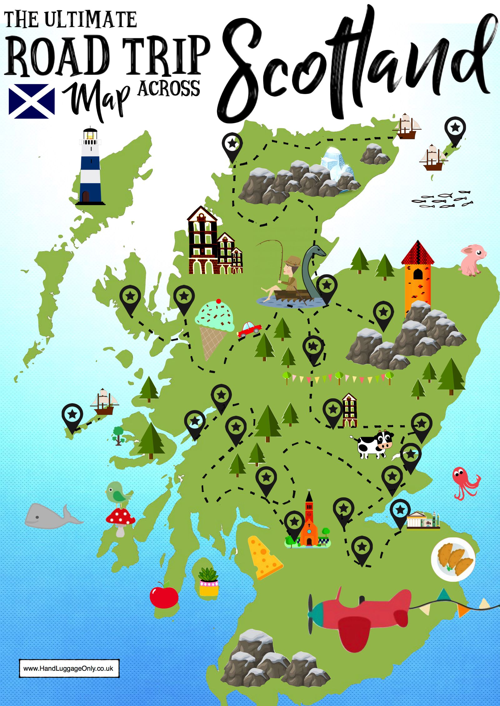 Travel Blog With Map The Ultimate Map Of Things To See When Visiting Scotland