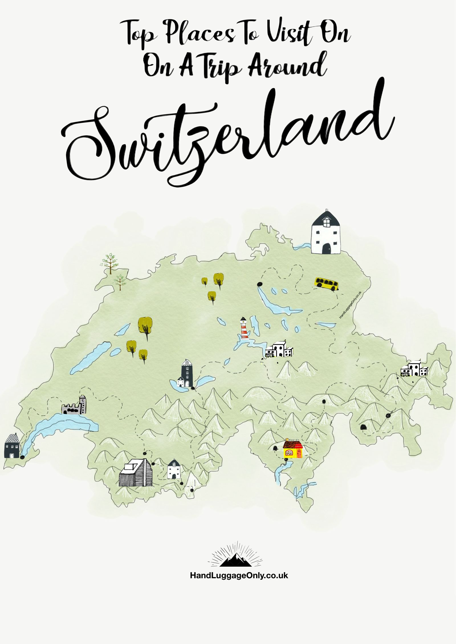 Travel Blog With Map The Best Places In Switzerland Your Ultimate 10 Day Travel
