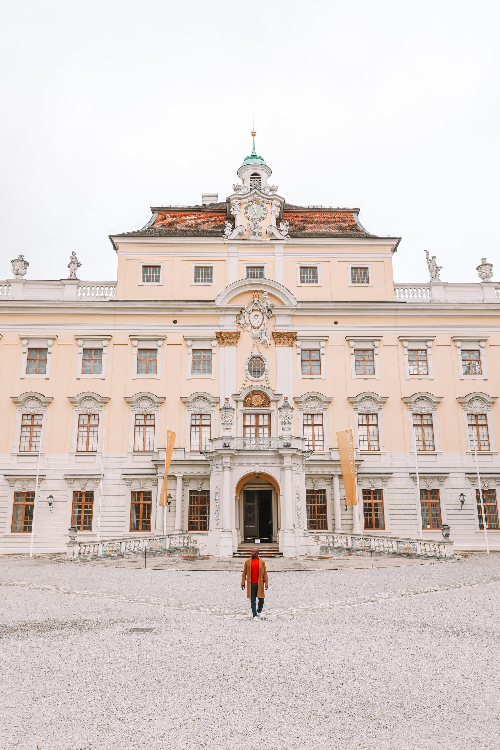 Stuttgart Ludwigsburg The Beautiful Baroque Ludwigsburg Palace In Stuttgart Germany