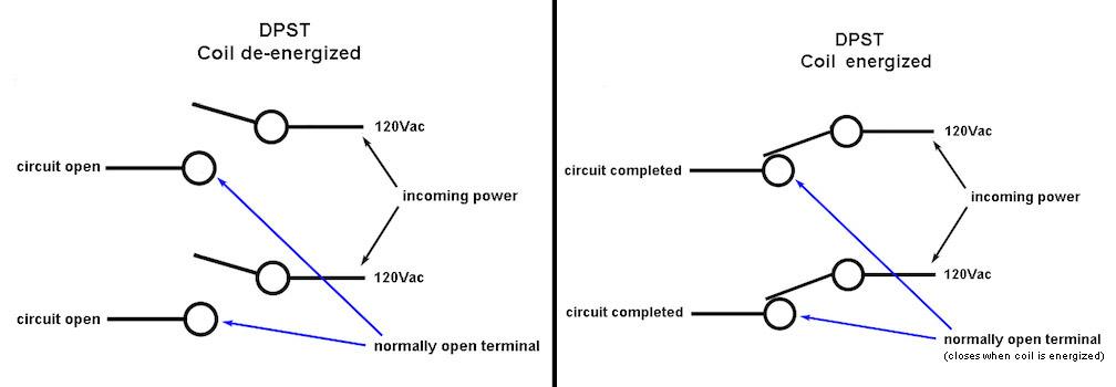 dpst relay wiring
