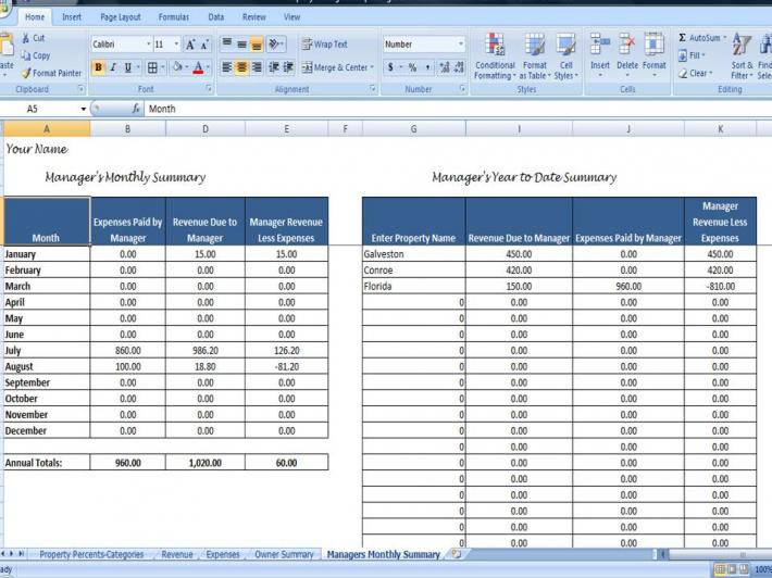 rental property expense spreadsheet template - landlord excel spreadsheet free