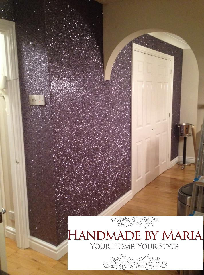 Black Silver Glitter Wallpaper Glitter Wallpaper Handmade By Maria