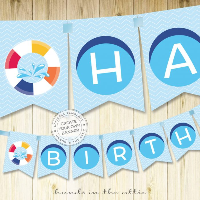 Printable Kids Party Banners Birthday Parties Editable Templates
