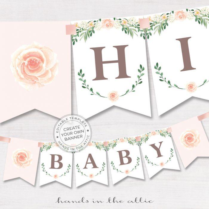 Printable Baby Shower Banners Editable Templates