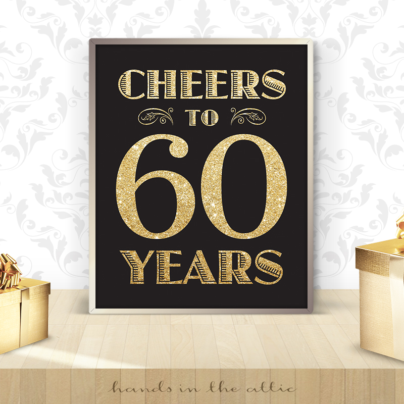 60th Birthday Sign Free Download Hands in the Attic