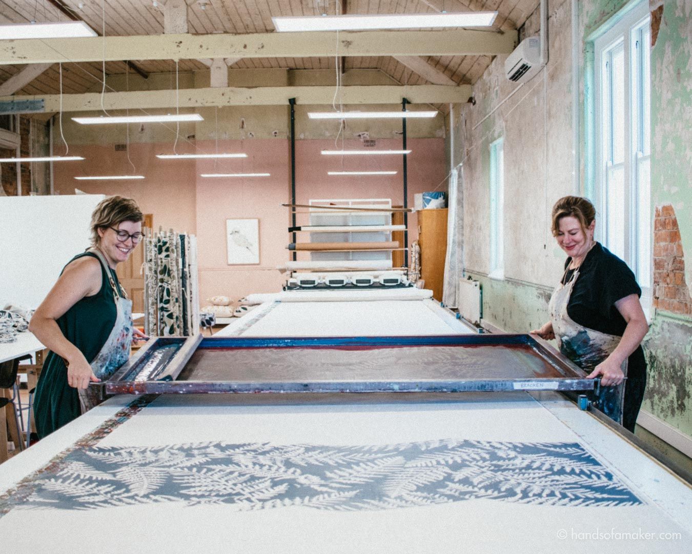 The Maker's Series   A Visit to Ink & Spindle's Beautiful Studio